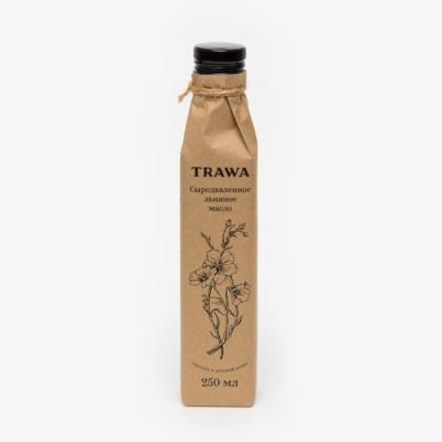 TRAWA Масло сыродавленное льняное, 250мл