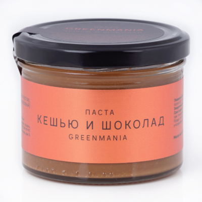 Паста GreenMania «Кешью и шоколад», 200гр
