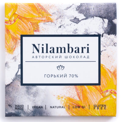 Шоколад Nilambari горький 70%, 65гр